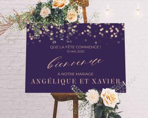 Elegant Glow - Panneau de bienvenue mariage