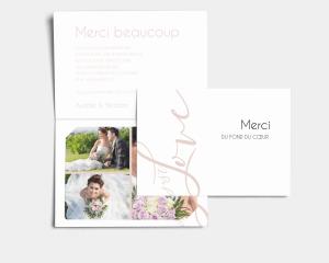 Just - Carte de remerciements mariage avec Photo