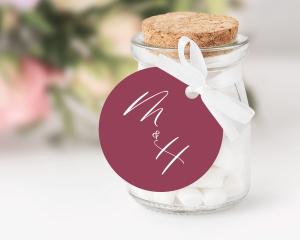 Beloved Floral - Pendentif pour cadeau d´invité