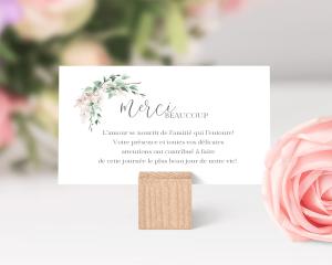 Romantic Wisteria - Carte de remerciements mariage petit format