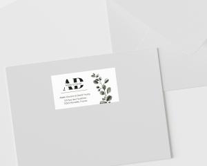 Leafy - Étiquettes d'adresse pour enveloppes