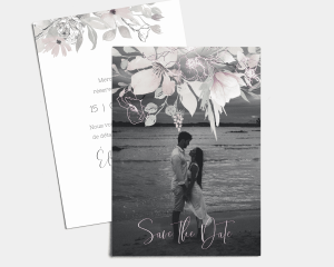 Bloom - Save the Date carte mariage (vertical)