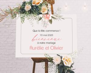 Aurora - Panneau de bienvenue mariage