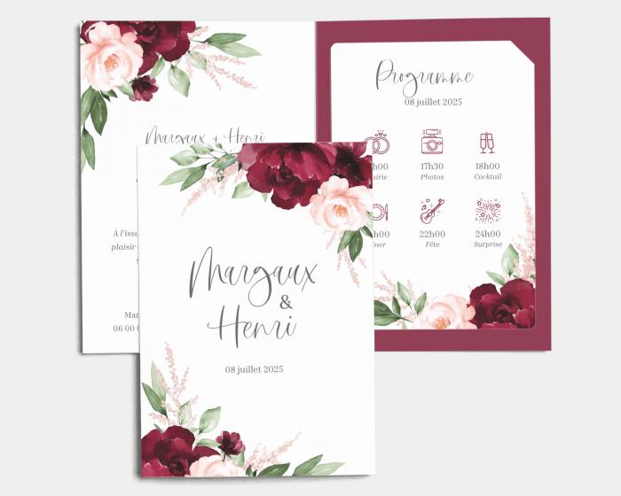 Beloved Floral - Faire-Part mariage avec insert