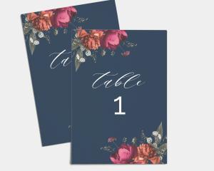 Blooming Botanical - Numéros de Table 1 - 10