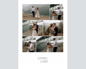 Painted Mountains - Affiche de mariage (verticale)