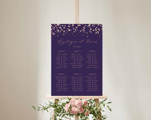 Elegant Glow - Plan de Table 50x70 cm (vertical)