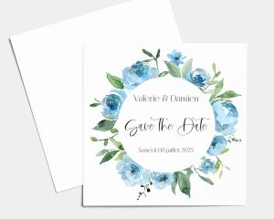 Blue Romance - Save the Date carte mariage