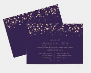 Elegant Glow - Carte d´invitation au mariage (horizontale)
